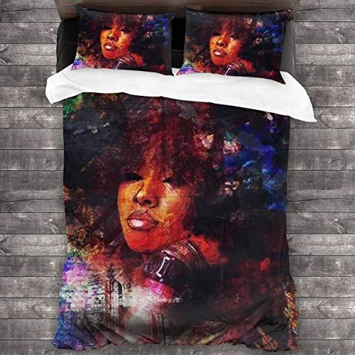 WFYZIYZL Graffiti African American Black Power Duvet Cover Bedding Sheet Set, 3 Piece Set Soft Luxurious(Duvet Cover + 2 Pillowcases)