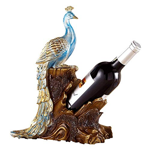 TAIDENG Wine rack peacock wine table wine cabinet decoration folding folding wine bottle holder rack dining decoration home accessories living room rack