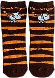 Die Geschenkewelt 45609 Zauber-Socken, mit sheepworld Schaf, Couch-Tiger Geschenk-Artikel, 80prozent Baumwolle, 15prozent Nylon, 5prozent Elastan, Orange, Größe 41-46