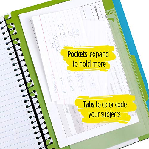Five Star Advance Spiral Notebook, 5 Subject, College Ruled Paper, 200 Sheets, 11 x 8-1/2 inches, Teal (73152) Photo #6