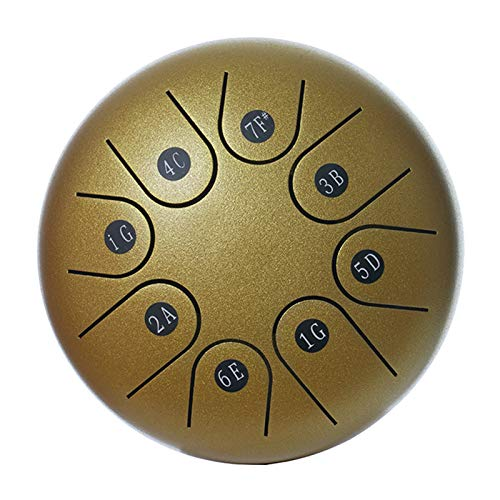 FITYLE Tambor de lengua de acero tambor de acero Handpan estándar C clave 8 notas 6 pulgadas instrumento de percusión con tambor mazo llevar bolsa regalo