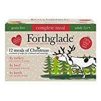 CHRISTMAS WET DOG FOOD VARIETY PACK: 12 X 395g trays of grain free dog food in 3 flavours your dog will love: 4x Turkey, 4x Lamb and 4x Beef NATURAL INGREDIENTS: Bursting with goodness and made using natural ingredients, with added vitamins, minerals...