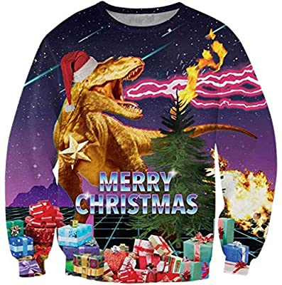 Goodstoworld Unisex Ugly Christmas Sweater 3D Funny Print Sweatshirt