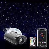 Steuerung: APP + 28 Tasten Multifunktionsfernbedienung, das Telefon kann ferngesteuert und einfach zu bedienen sein. Lampenperlen: Es werden RGBW-Lampenperlen verwendet, die reinweiß sind und sich am besten für die Dekoration von Autodecken mit autos...