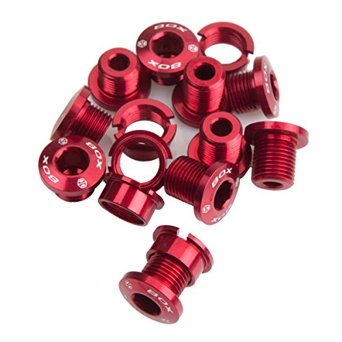 Box Components 7075 Spiral Lot de 15 boulons en alliage Rouge