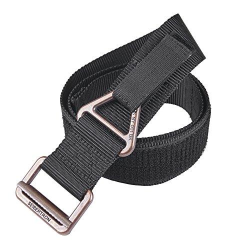 Seibertron Nylon Tactical Belt Security Special Operations Belt Tattica di Alta qualità TDU Cintura Larghezza 4,5 CM Black Fit Waistline 30'- 40'