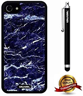 iphone 7 Case, Marble Pattern Case, Cowcool Ultra Thin Soft Silicone Case for Apple iphone 7 - Blue White Interlaced Marble Texture