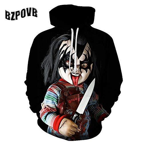 zysymx Joker Poker Männer Hoodies Sweatshirts 3D Gedruckt Lustige Hip Hop Hoodies Neuheit Streetwear Mit Kapuze Herbst ETS Mlae Trainingsanzüge