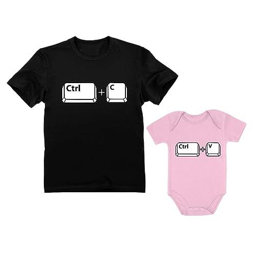 9cd781b2 Dad & Baby Girl/Boy Copy Paste Matching Set Men's T-Shirt & Baby