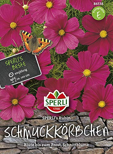 Schmuckkörbchen (Cosmea) SPERLINGs Rubin von Sperli-Samen