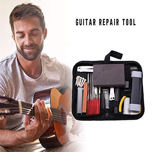 XTDGN Gitarren-Sorgfalt-Werkzeug-Kit für Akustikgitarre, Bass Reparatur Maintenance Tool Kit, mit Inbusschlüssel Set für Gitarre Notfall, vollkommenes Geschenk für String-Enthusiasten