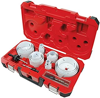 Milwaukee Electric Tool 49-22-4185 - Hole Saw Set - Cobalt Bi-Metal, Smallest Saw Diameter: 3/4 in, Largest Saw Diameter: 4-3/4 in, Number of Hole Saws: 22