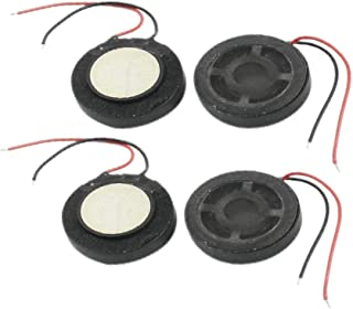 4Pcs 1W Featured 8 Ohm Dual Wire Connecting reliable efficacy Self-adhesive Type fine workmanship Round Mini Magnetic p-h-o-n-e MP3 MP4 Player Speaker