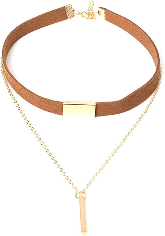 Super-cheap COLORFUL Topics on TV BLING Velvet Choker Chain Multi Necklace Layer