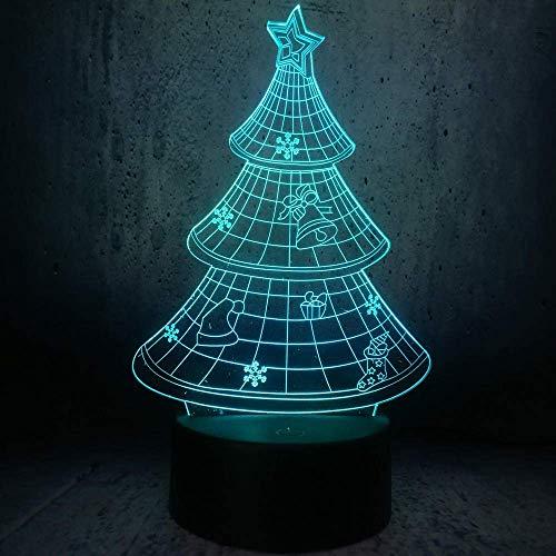 LBMTFFFFFF Lámpara de Luz de Noche Lámpara de Ilusión 3D Luz de Noche Led Lámpara Usb Decoración Regalo Gradiente Color Pantalla de Lámpara de Escritorio para el Hogar