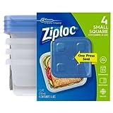 Ziploc Container Small Square, 4 Ct