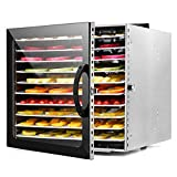 JFF Máquina Deshidratadora De Alimentos 10 Pisos Temporizador Ajustable Y Control De Temperatura...