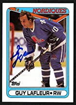 Guy Lafleur Autographed Memorabilia 1990-91 Topps Card #142 Quebec Nordiques 150167 - Certified Authentic