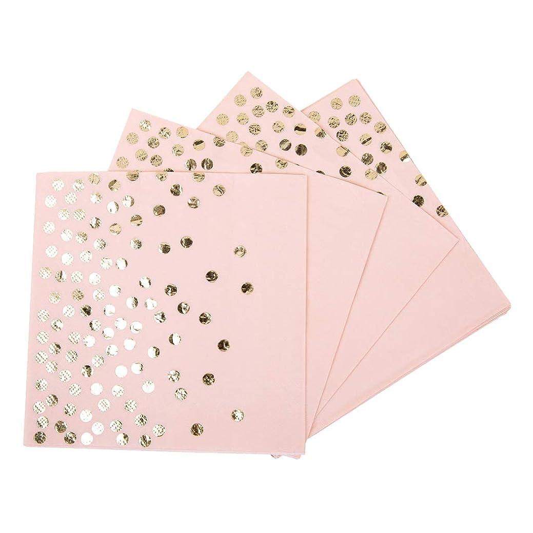 グレーグリース北perfk 約20枚 使い捨て ナプキン ペーパーナプキン 2色選べ - ピンク