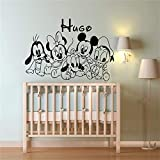 pegatina de pared Mickey Minnie Mouse Wall Art Decal Sticker...