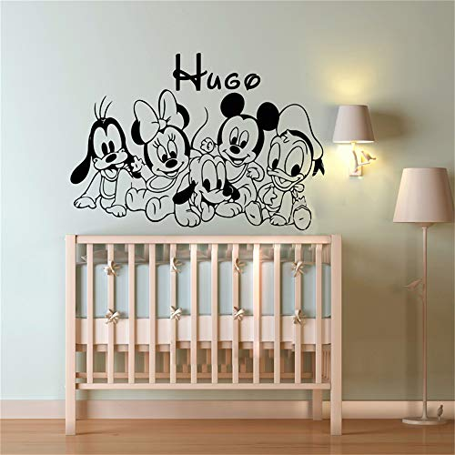 pegatina de pared Mickey Minnie Mouse Wall Art Decal Sticker Personali
