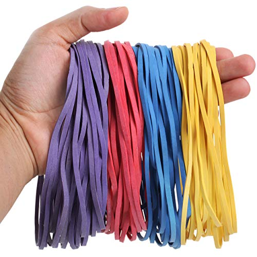 Mr. Pen- Large Rubber Bands, 120 Pack, Assorted Color, Big Rubber Bands, Giant Rubber Bands, Elastics Bands, Long Rubber Bands, Colored Rubber Bands for Office, File Rubber Bands, Rubber Bands
