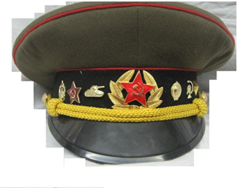 Schirmmütze Offizier Russland Sowjetunion Panzer, Gr. 57 Fasching Karneval