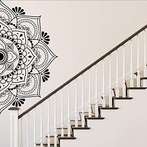 Mandala religiosa etiqueta de la pared decorativa sala de estar sala de niños yoga decoración del hogar calcomanía de vinilo decoración de dormitorio moderna papel tapiz A2 XL 57cm X 114cm