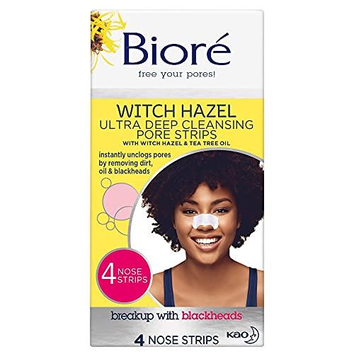 Bioré Witch Hazel Ultra Deep Cleansing Pore Strips Nose Strips For Spot Prone Skin