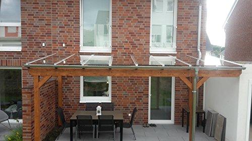 Luxbach GmbH Terrassenüberdachung 600x450 cm / 6x4,5 m Terrassendach Überdachung Carport Leimholz Pergola BSH Holz Stegplatten 16mm Klar Hohlkammerplatten
