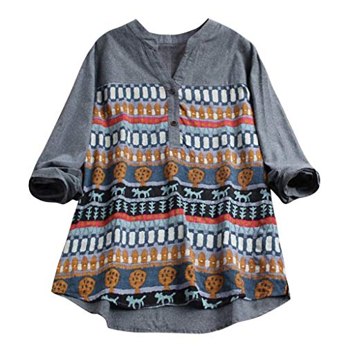 MRULIC Damen Fledermaus Hemd Lässig locker Top Dünnschnitt Bluse T-Shirt(T-Marineblau,EU-42/CN-XL)