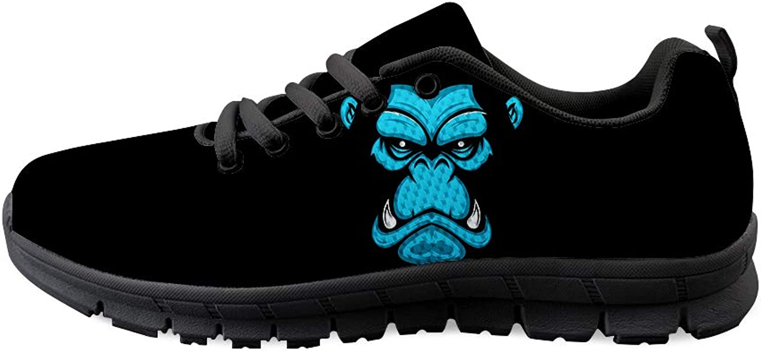 Owaheson Lace-up Sneaker Training shoes Mens Womens Vicious Gorilla Face