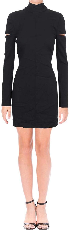 Helmut Lang Womens Scuba Cocktail Mini Dress