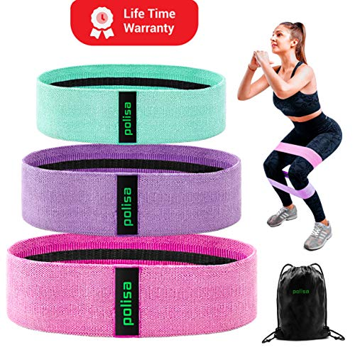 Polisa Resistance Exercise Bands for Legs and Butt | Workout Bands Booty Bands Glute Bands Loop | Non Slip Wide Elastic Stretch Circle Hip Bands for Sports Fitness Training Bands for Women