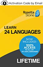 Rosetta Stone Learn Unlimited Languages| Lifetime Access - Learn 24 Languages| PC/Mac/iOS/Android Download