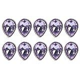 10 Piezas de Diamantes de Imitación de Cristal Redondos, Diamantes de Imitación de Cristal Diamantes de Imitación de Garra Parcheables para Manualidades Arte de Uñas Ropa Zapatos(Morado Claro)