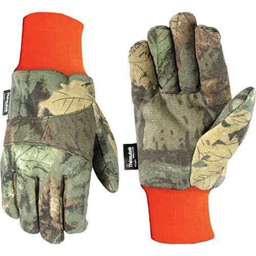 Wells Lamont 717XL 100 g Thinsulate, Polyester/Cotton Blend, Men's Winter Jersey Gloves, X-Large, Camouflage