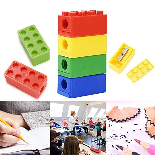 Temperamatite in Plastica Colorata, BETOY 10 pezzi Temperamatite Manuale per Bambini Foro Singolo Matita Sharpeners per Cartoleria per Ufficio a Casa