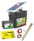 Solar Weidezaungerät Cowboy B 7000 mit 5Watt Solarmodul & 9V Batterie, 60Ah - verlängerte Batterielaufzeit durch Solartechnik
