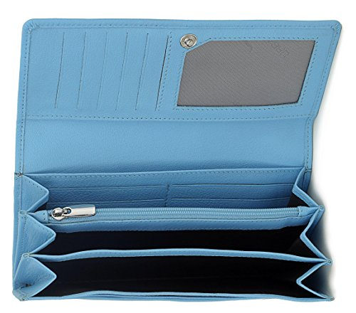 Urban Forest Natalie SkyBlue Leather Wallet for Women
