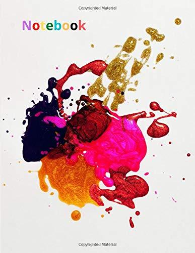 notebook: painting palette, gray, colorful, unlined: | subtle, elegant and joyful motive
