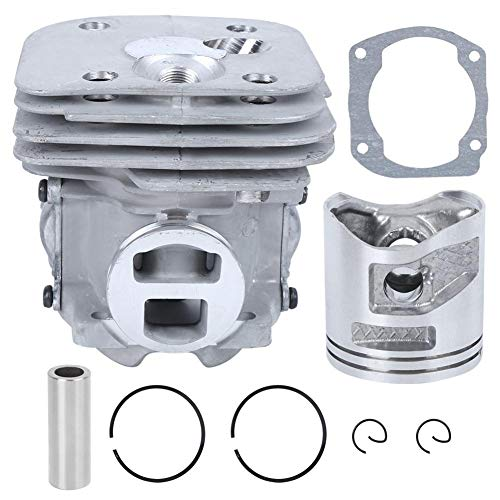 Kit de pistón de cilindro de sierra de cadena de 50mm/2,0 pulgadas Kit de válvula de liberación de compresión de pistón de cilindro Universal apto para motosierra Husqvarna 365XT