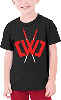 SMZX Chad-Wild-Clay Youth Boys and Girls Round Neck T-Shirt Fashion Pattern 3D Print Short Sleeve Black