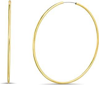 Steve Madden 70mm Thin Yellow Endless Hoop Earrings for Women
