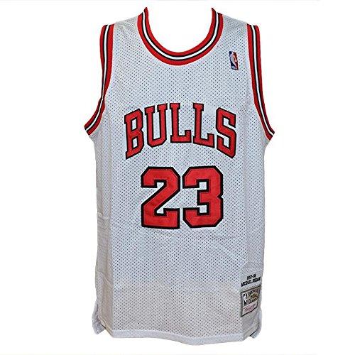 Canotta Bianca NBA Retro Vintage - Michael Jordan - Chicago Bulls - Taglia M- HARDWOOD CLASSICS