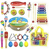 Kids Mini Band Musical Instruments Rhythm Xylophone Set for Percussion Toy(14pcs)