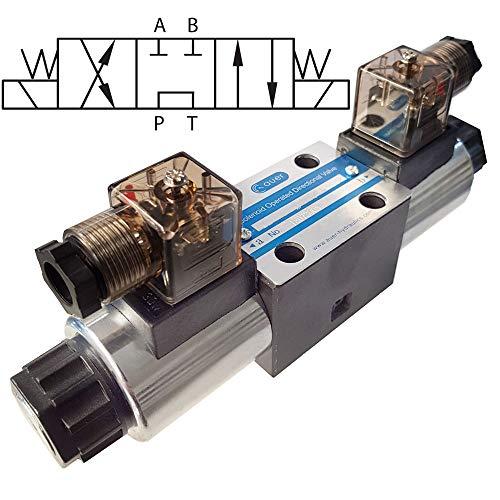 Hydraulik 4/3 Wegeventile, Magnetventil NG06 Cetop3 A-B Geschlossen P-T Verbunden (12V)