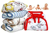 MOM CARES Muslin Cloth Nappiies For Newborn Baby ,Reusable Diapers, Cotton Langots,U Shaped Double...