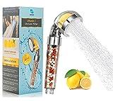 Vitamin C Ionic Shower Head Filter-Handheld High Pressure Shower Filters Chlorine Flouride & Heavy Metals Filter-Hard Water Softener-Helps Dry Skin & Dry Hair -Universal Shower System