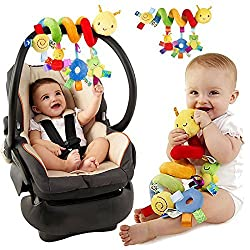 High quality, made of soft velvet cloth, durable and lightweight, with child safe design. Widely used in strollers, seat handles, can be wrapped in crib fences, strollers or safety seat handles. This interactive baby toy is designed with vivid colors...